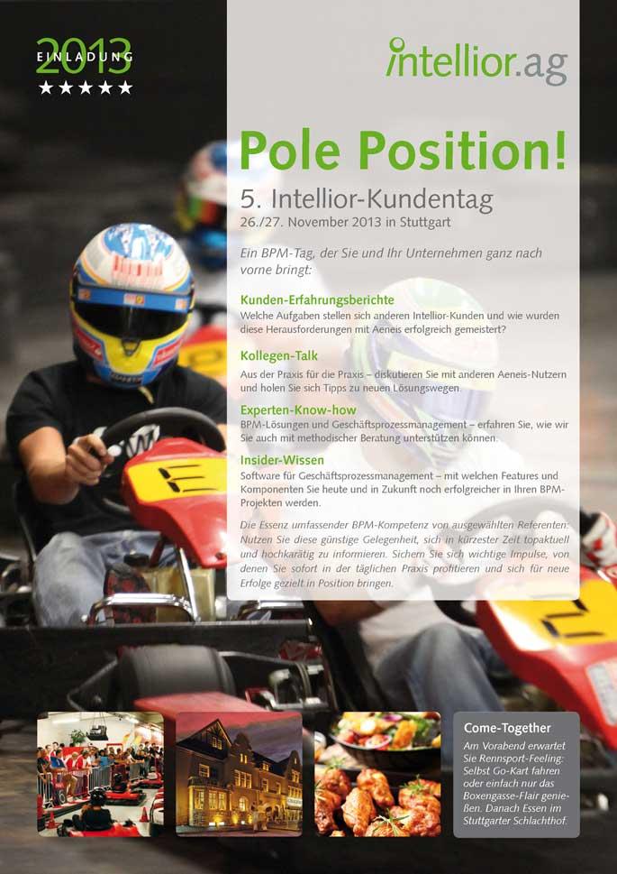 Titelseite der Einladung zum Intellior-Kundentag 2013
