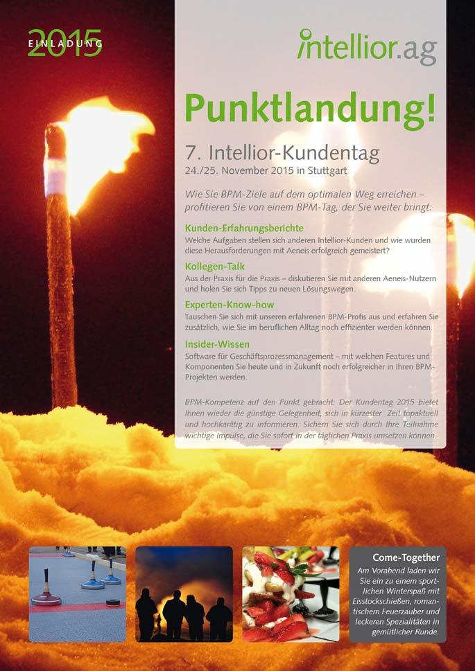 Titelseite der Einladung zum Intellior-Kundentag 2015